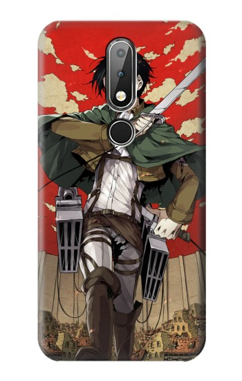 Printed Attack on Titan Rivaille Levi Nokia X6 Case