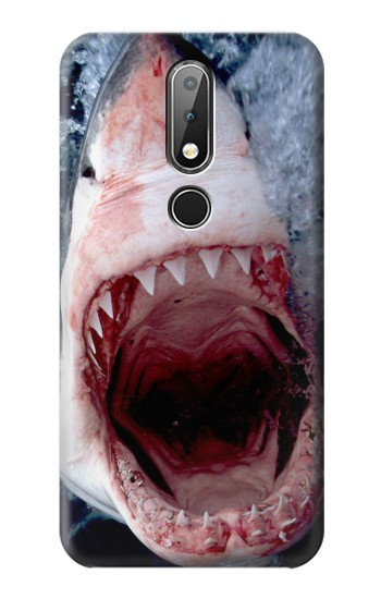 Printed Jaws Shark Mouth Nokia X6 Case