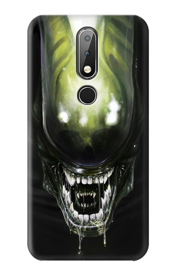 Printed Alien Head Nokia X6 Case