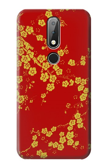 Printed Cherry Blossoms Chinese Silk Graphic Printed Nokia X6 Case