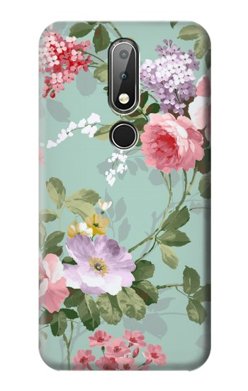 Printed Flower Floral Art Painting Nokia X6 Case