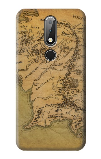 Printed The Lord Of The Rings Middle Earth Map Nokia X6 Case