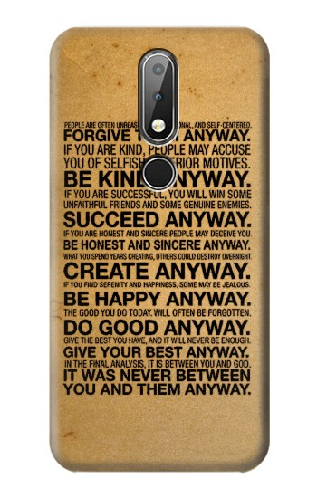 Printed Mother Teresa Anyway Quotes Nokia X6 Case