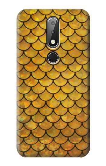 Printed Gold Fish Scale Nokia X6 Case