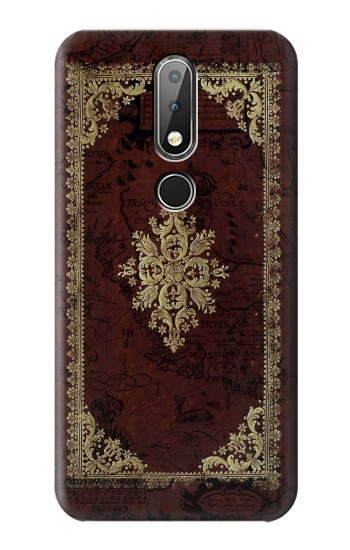 Printed Vintage Map Book Cover Nokia X6 Case