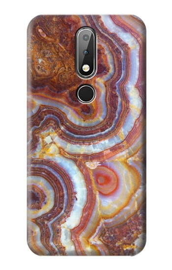 Printed Colored Marble Texture Printed Nokia X6 Case
