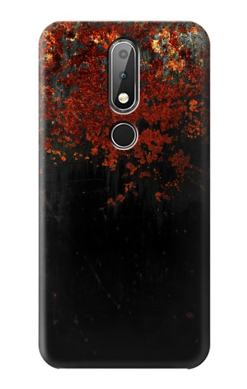 Printed Rusted Metal Texture Nokia X6 Case