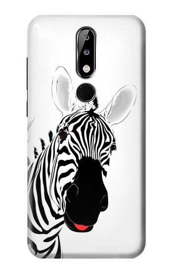 Printed Hello Zebra Nokia 5.1 Plus (Nokia X5) Case