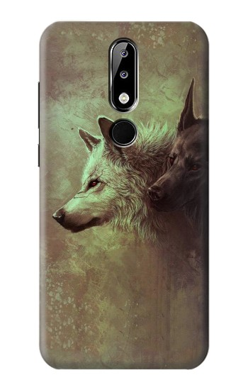 Printed White Black Wolf Nokia 5.1 Plus (Nokia X5) Case
