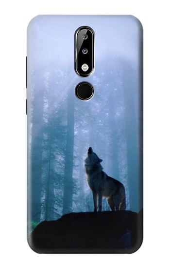 Printed Wolf Howling in Forest Nokia 5.1 Plus (Nokia X5) Case