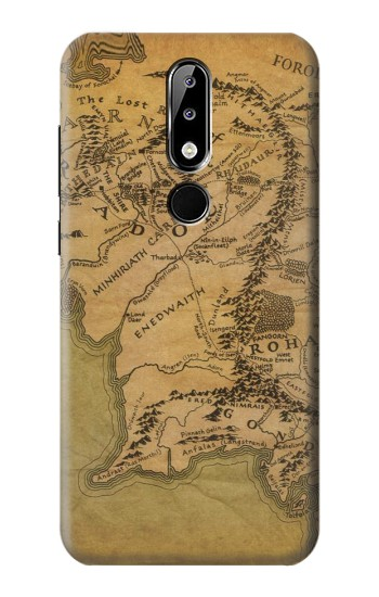 Printed The Lord Of The Rings Middle Earth Map Nokia 5.1 Plus (Nokia X5) Case