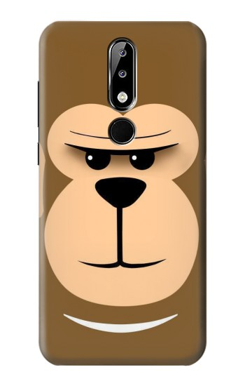 Printed Cute Monkey Cartoon Face Nokia 5.1 Plus (Nokia X5) Case