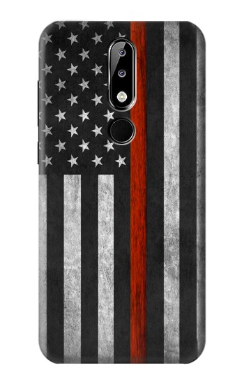 Printed Firefighter Thin Red Line Flag Nokia 5.1 Plus (Nokia X5) Case