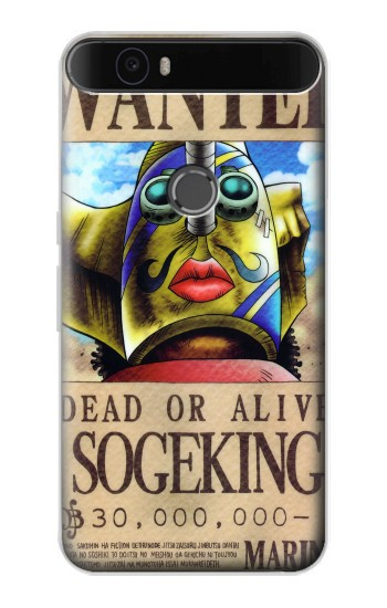Printed One Piece SOGEKING Wanted Poster Huawei Nexus 6P Case