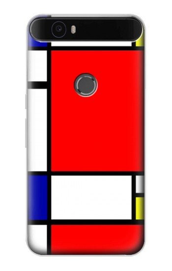 Printed Composition Red Blue Yellow Huawei Nexus 6P Case