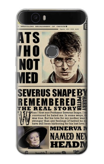 Printed Harry Potter Daily Prophet Huawei Nexus 6P Case