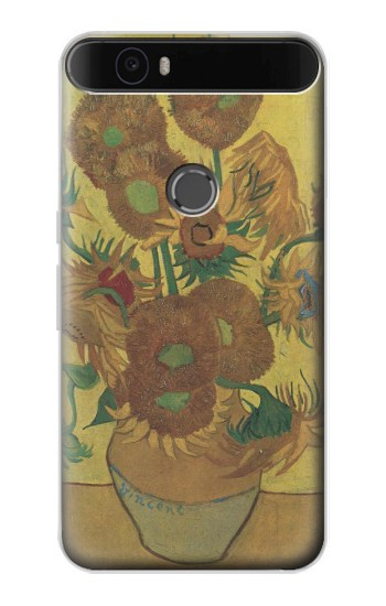 Printed Van Gogh Vase Fifteen Sunflowers Huawei Nexus 6P Case