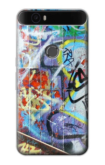 Printed Wall Graffiti Huawei Nexus 6P Case