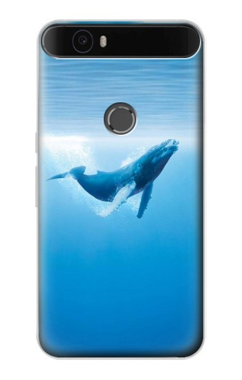Printed Blue Whale Huawei Nexus 6P Case