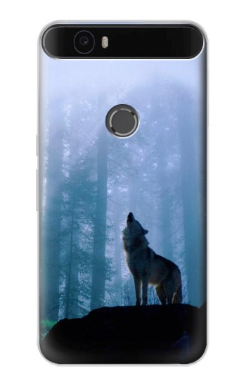 Printed Wolf Howling in Forest Huawei Nexus 6P Case