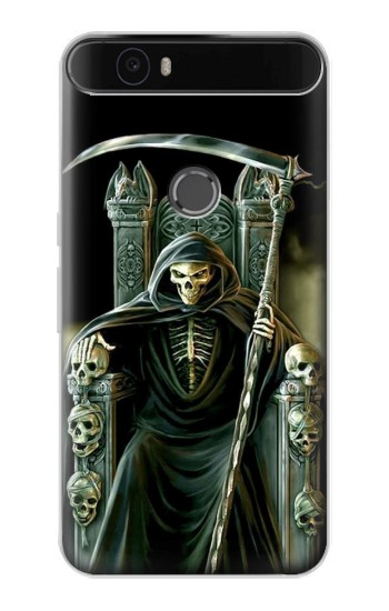 Printed Grim Reaper Skeleton King Huawei Nexus 6P Case