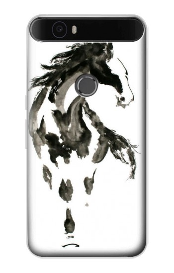 Printed Horse Paintbrush Huawei Nexus 6P Case