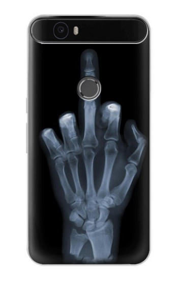 Printed X-ray Hand Middle Finger Huawei Nexus 6P Case