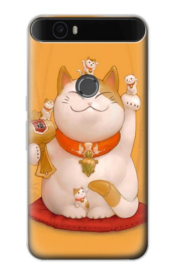 Printed Maneki Neko Lucky Cat Huawei Nexus 6P Case