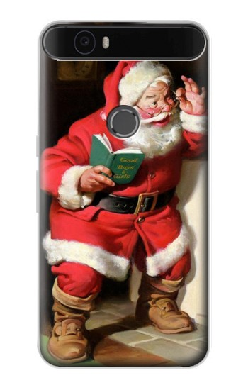 Printed Santa Claus Merry Xmas Huawei Nexus 6P Case