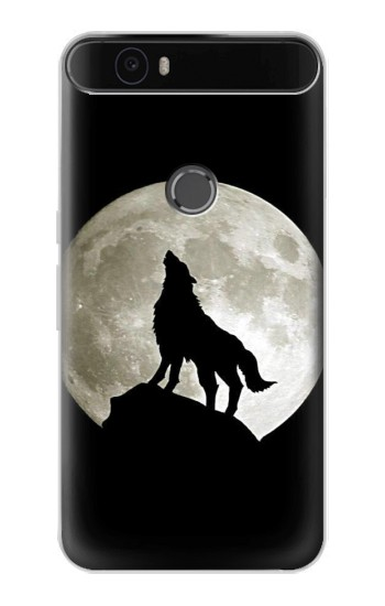 Printed Wolf Howling at The Moon Huawei Nexus 6P Case