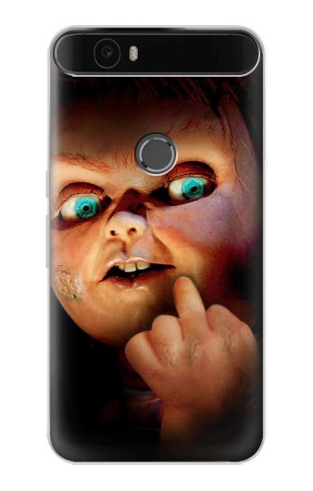 Printed Chucky Middle Finger Huawei Nexus 6P Case