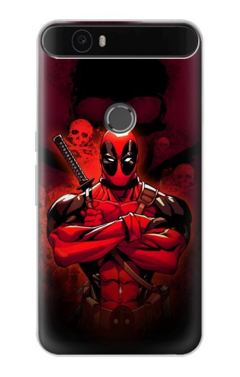 Printed Deadpool Skull Huawei Nexus 6P Case