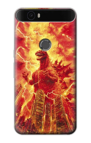 Printed Godzilla The Legend Is Reborn Huawei Nexus 6P Case