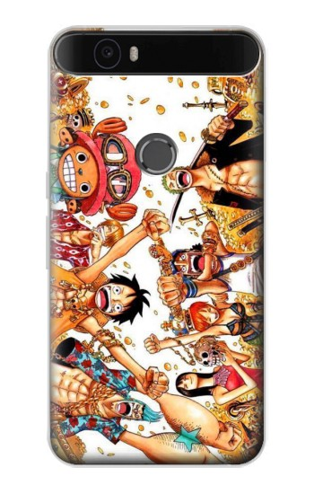 Printed One Piece Straw Hat Luffy Pirate Crew Huawei Nexus 6P Case