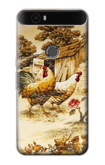 Printed French Country Chicken Huawei Nexus 6P Case