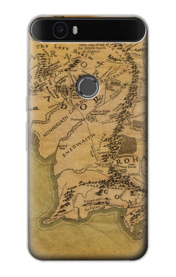 Printed The Lord Of The Rings Middle Earth Map Huawei Nexus 6P Case