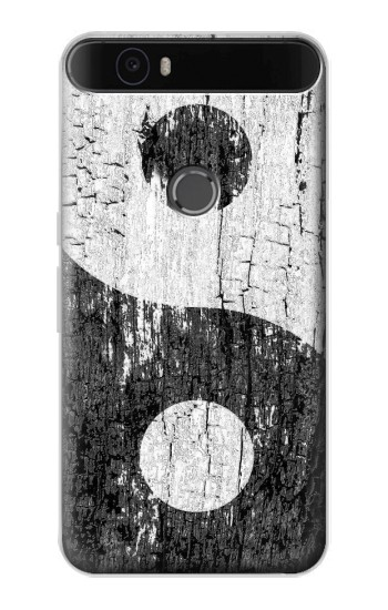 Printed Yin Yang Wood Huawei Nexus 6P Case