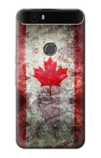 Printed Canada Maple Leaf Flag Texture Huawei Nexus 6P Case