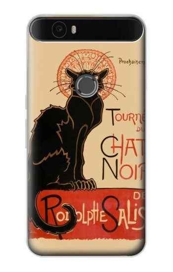 Printed Chat Noir The Black Cat Huawei Nexus 6P Case