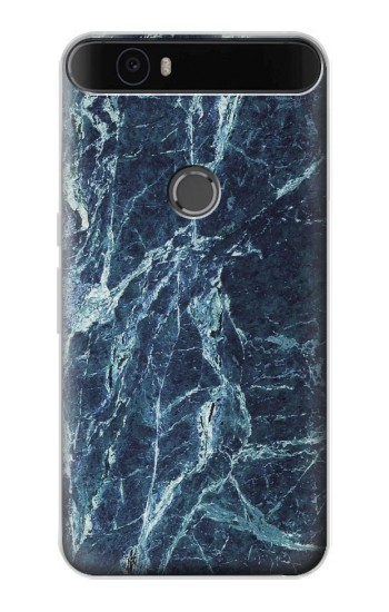 Printed Light Blue Marble Stone Texture Printed Huawei Nexus 6P Case