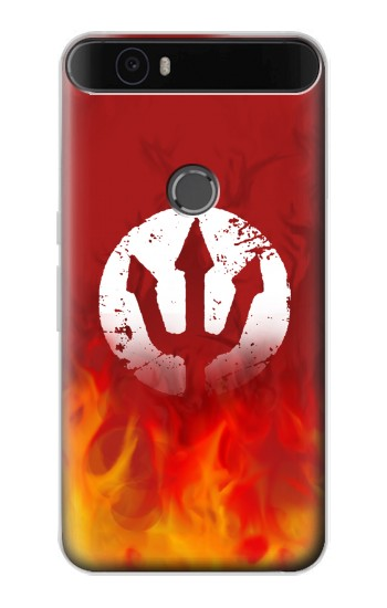 Printed Fire Red Devil Symbol Huawei Nexus 6P Case