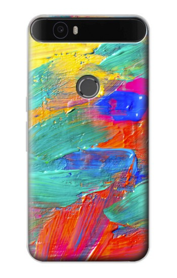Printed Brush Stroke Painting Huawei Nexus 6P Case