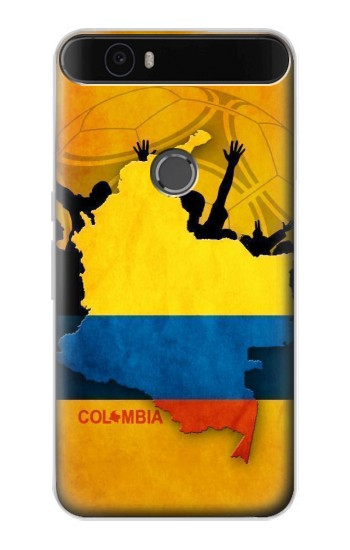Printed Colombia Football Flag Huawei Nexus 6P Case