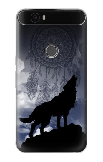 Printed Dream Catcher Wolf Howling Huawei Nexus 6P Case