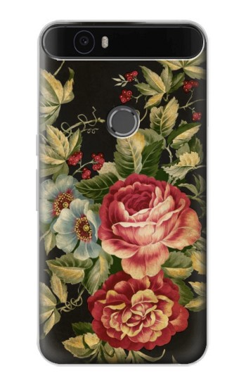 Printed Vintage Antique Roses Huawei Nexus 6P Case
