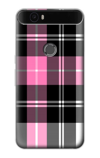 Printed Pink Plaid Pattern Huawei Nexus 6P Case
