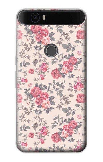 Printed Vintage Rose Pattern Huawei Nexus 6P Case