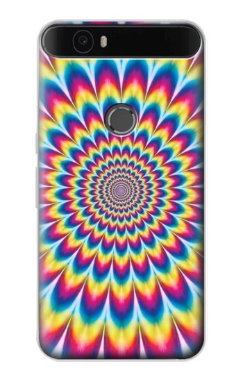 Printed Colorful Psychedelic Huawei Nexus 6P Case