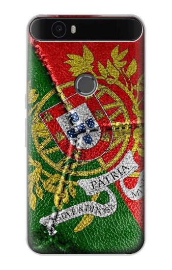 Printed Portugal Flag Vintage Football 2018 Huawei Nexus 6P Case