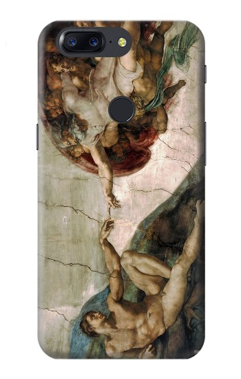 Printed Michelangelo The creation of Adam OnePlus 5T Case